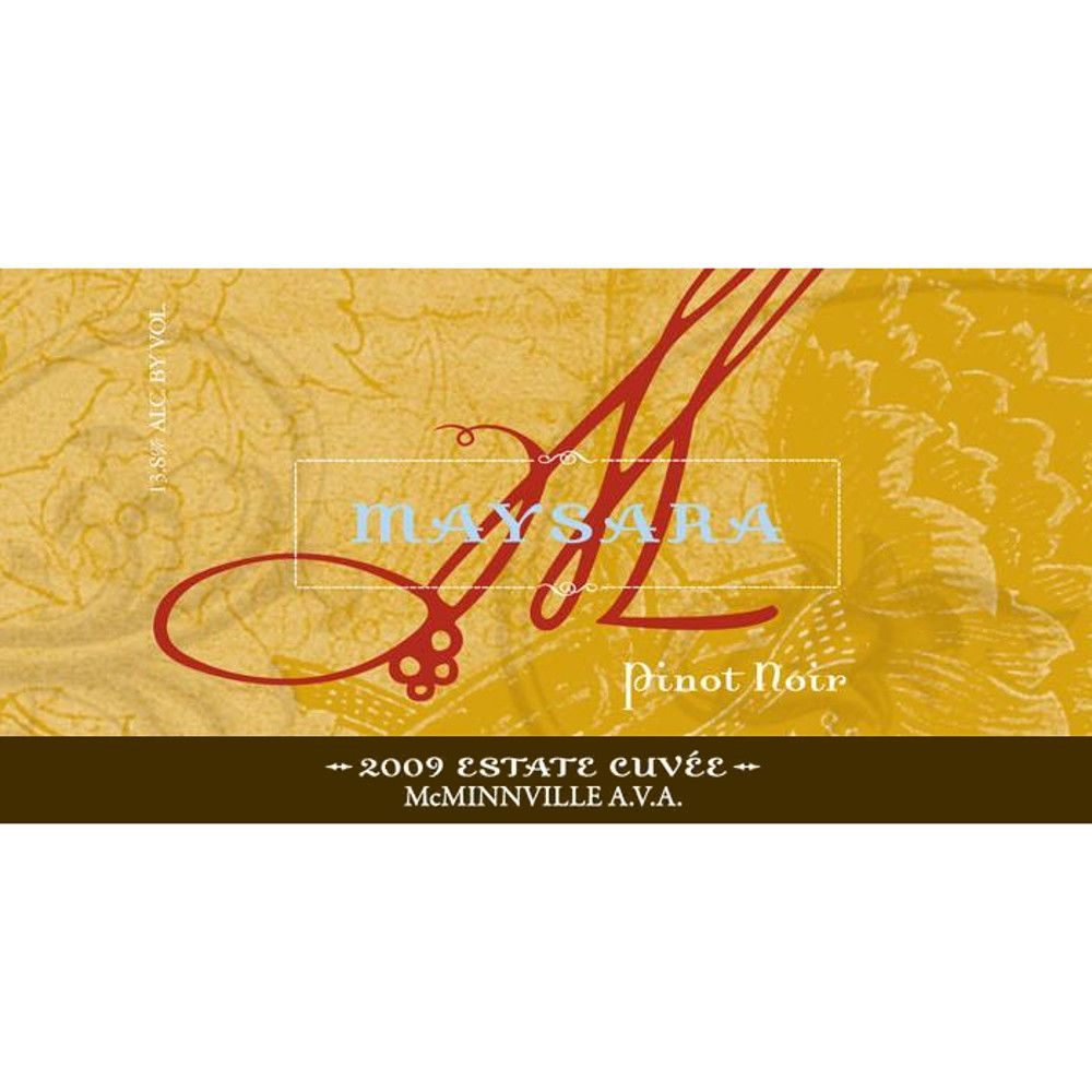 Maysara Estate Cuvee Pinot Noir 2009 Front Label