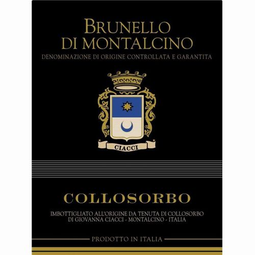 Collosorbo Brunello di Montalcino 2007 Front Label