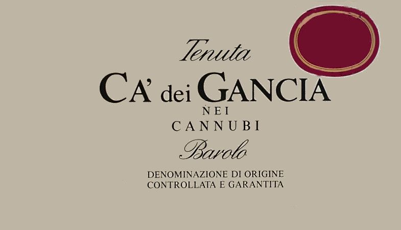 Gancia Cannubi 1993 Front Label