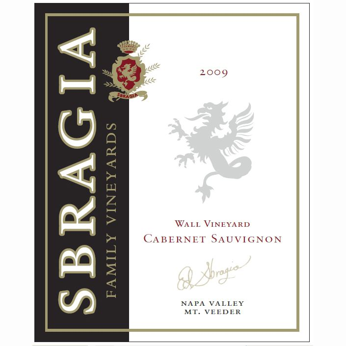 Sbragia Wall Vineyard Cabernet Sauvignon 2009 Front Label