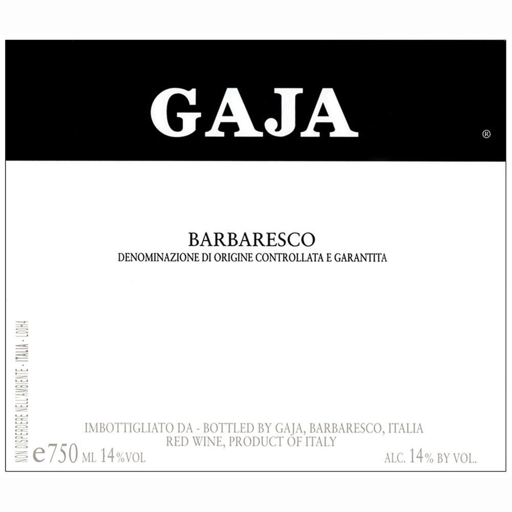 Gaja Barbaresco 2009 Front Label