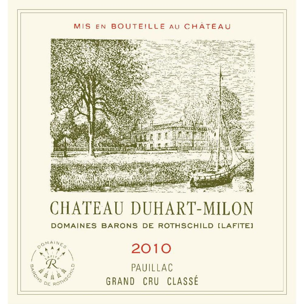 Chateau Duhart-Milon  2010 Front Label