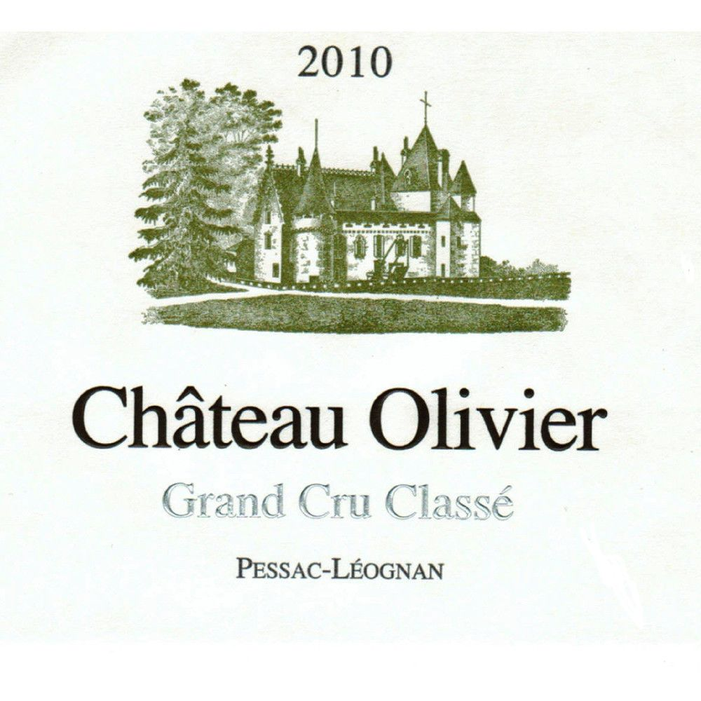 Chateau Olivier Blanc 2010 Front Label