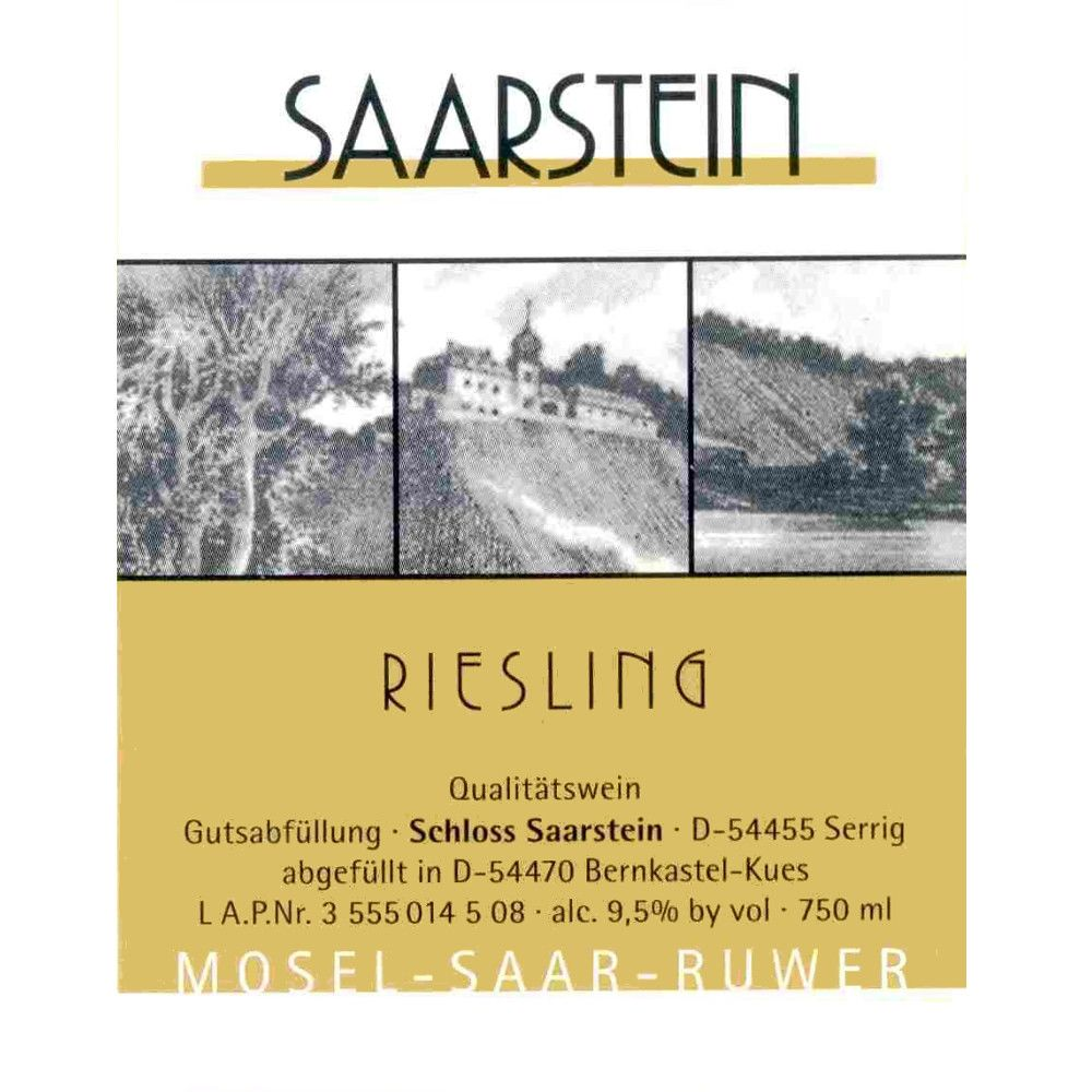 Schloss Saarstein Riesling QbA 2010 Front Label