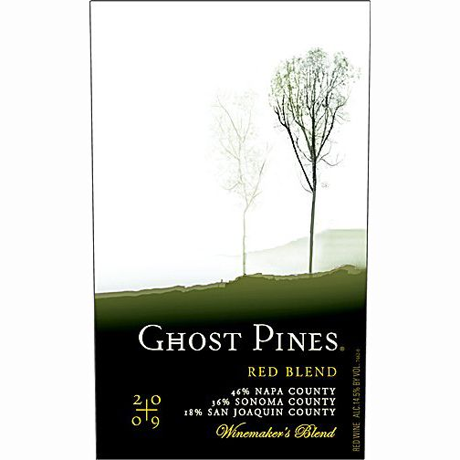 Ghost Pines Red Blend 2009 Front Label