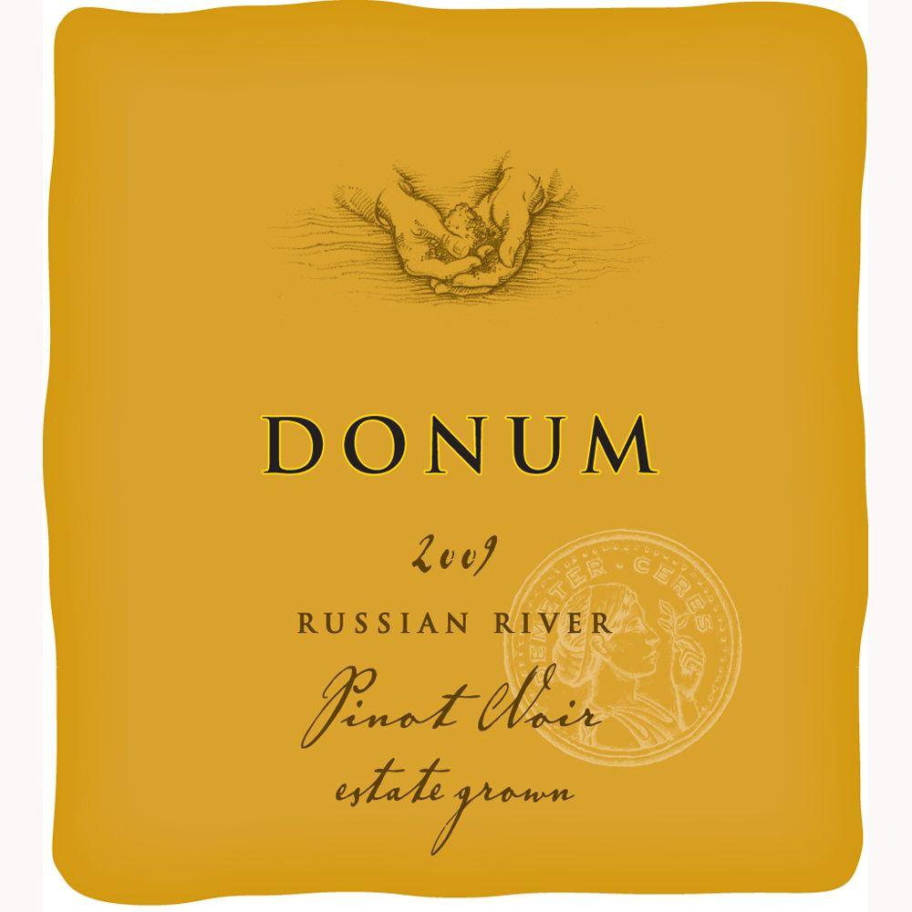 The Donum Estate Russian River Valley Pinot Noir 2009 Front Label