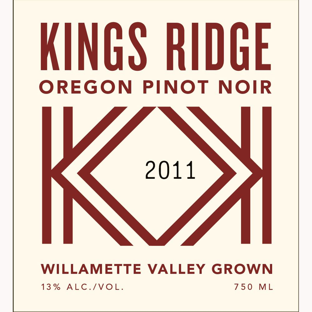 Kings Ridge Pinot Noir 2011 Front Label