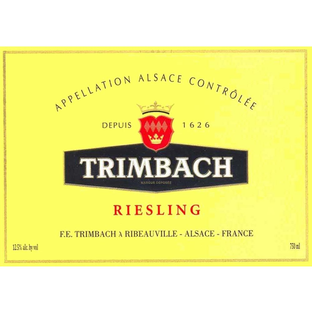 Trimbach Riesling 2010 Front Label