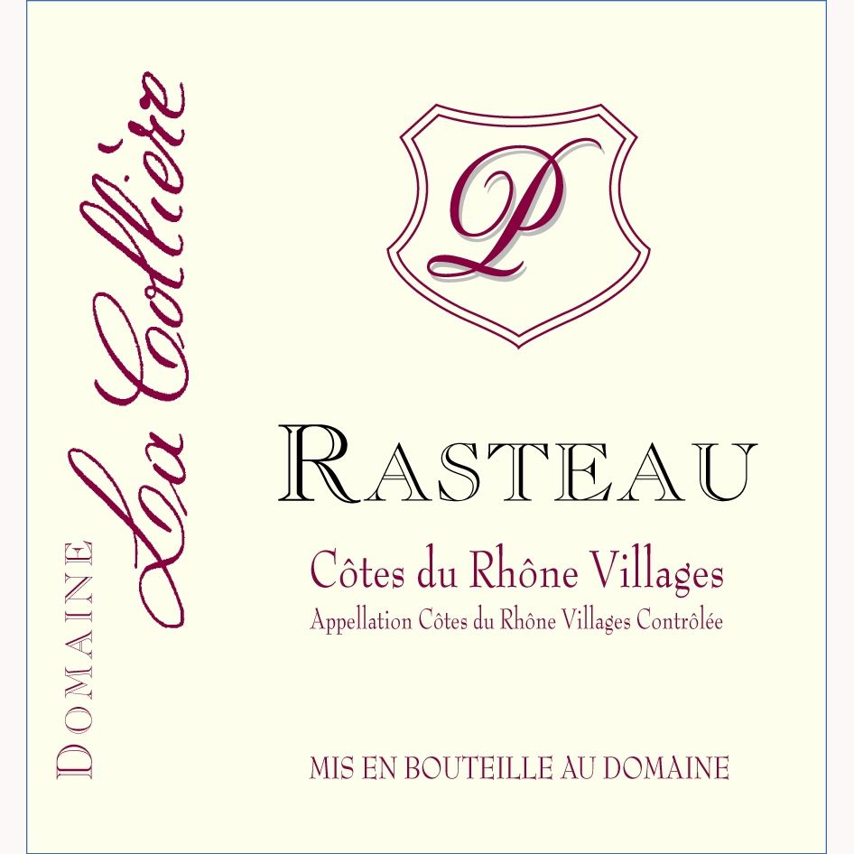 La Colliere Rasteau 2010 Front Label