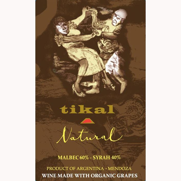 Tikal Natural Organic Malbec 2011 Front Label