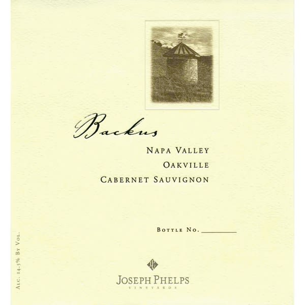 Joseph Phelps Backus Vineyard Cabernet Sauvignon 2003 Front Label