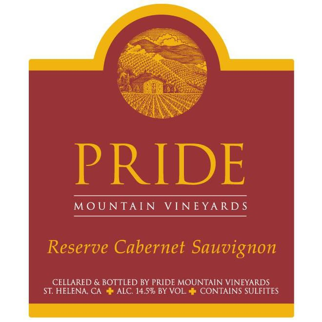 Pride Mountain Vineyards Reserve Cabernet Sauvignon 2008 Front Label