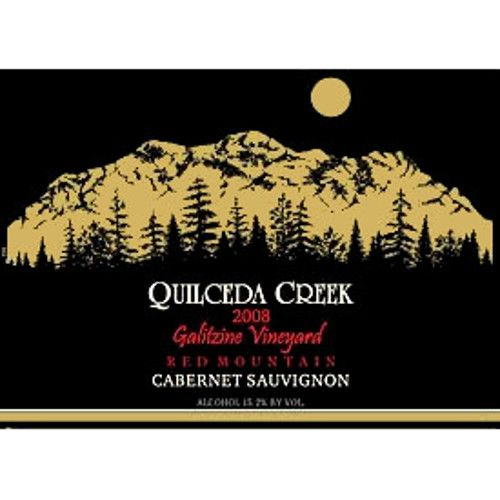 Quilceda Creek Galitzine Vineyard Cabernet Sauvignon 2008 Front Label