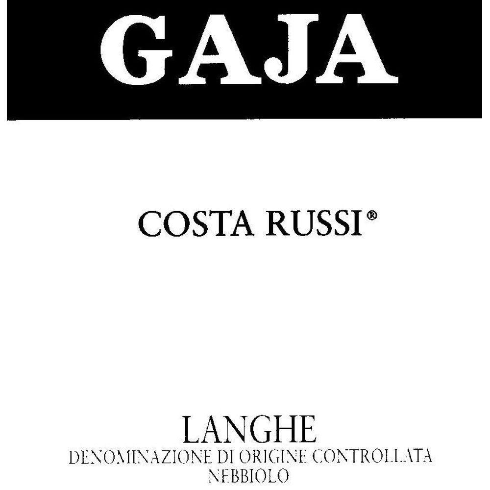 Gaja Costa Russi 2009 Front Label
