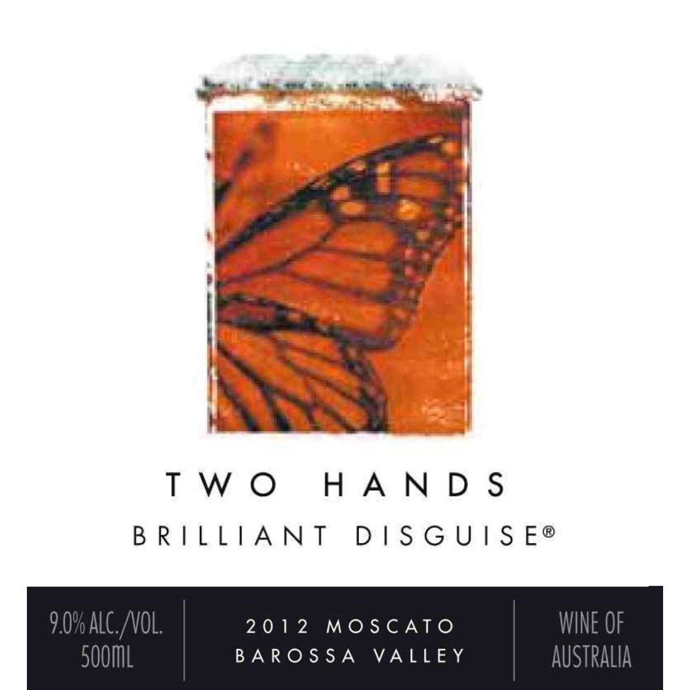 Two Hands Brilliant Disguise Moscato (500ML) 2012 Front Label