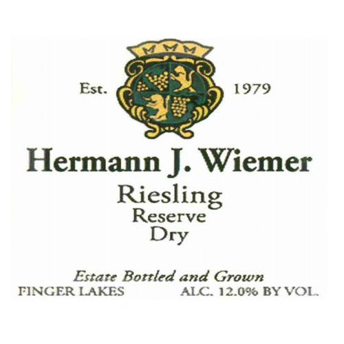 Hermann J. Wiemer Dry Riesling Reserve 2011 Front Label