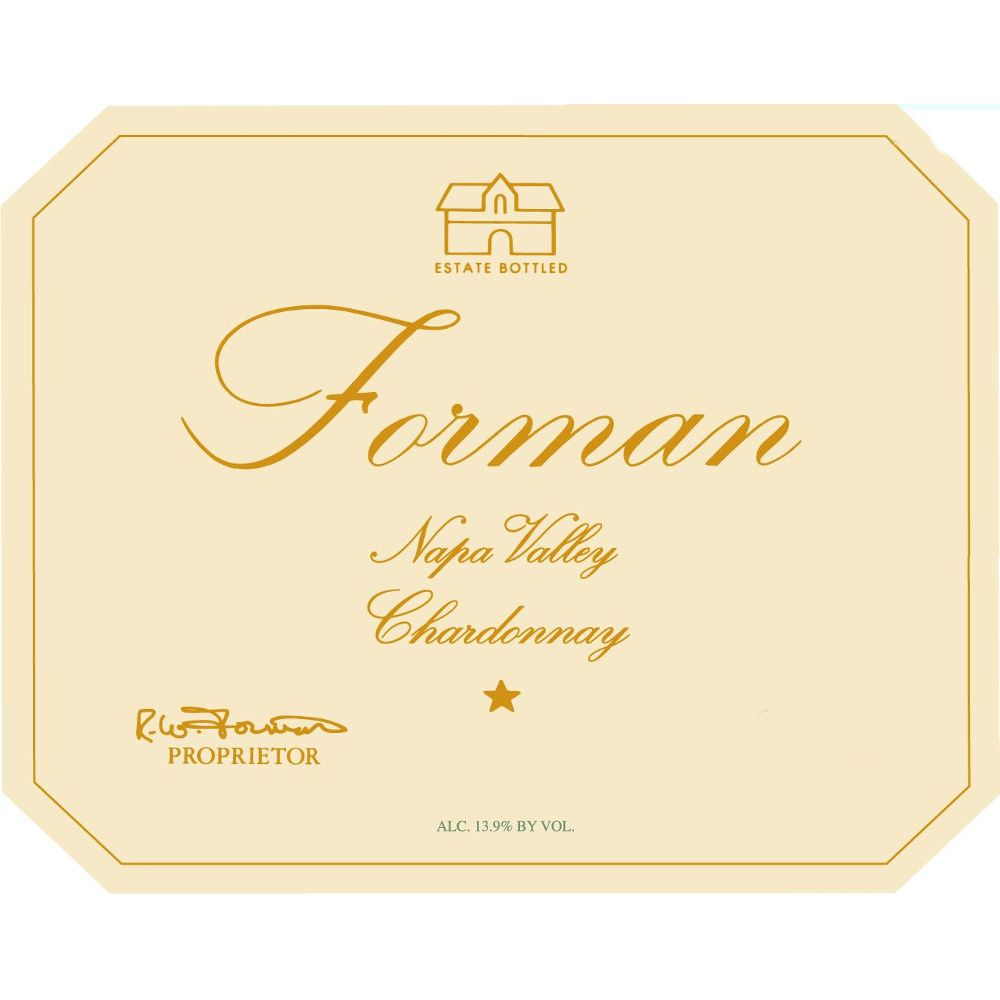 Forman Napa Valley Chardonnay 2010 Front Label