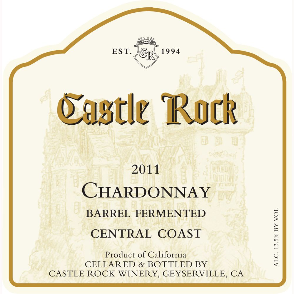 Castle Rock Central Coast Chardonnay 2011 Front Label