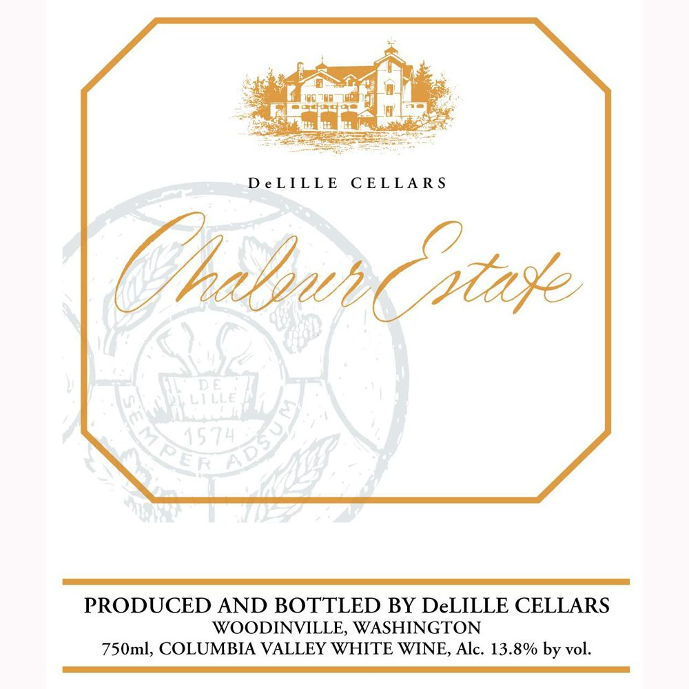 DeLille Chaleur Estate Blanc 2011 Front Label