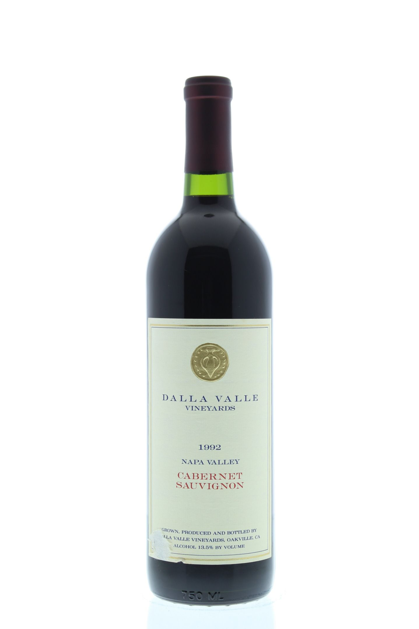 Dalla Valle Cabernet Sauvignon 1992 Front Bottle Shot