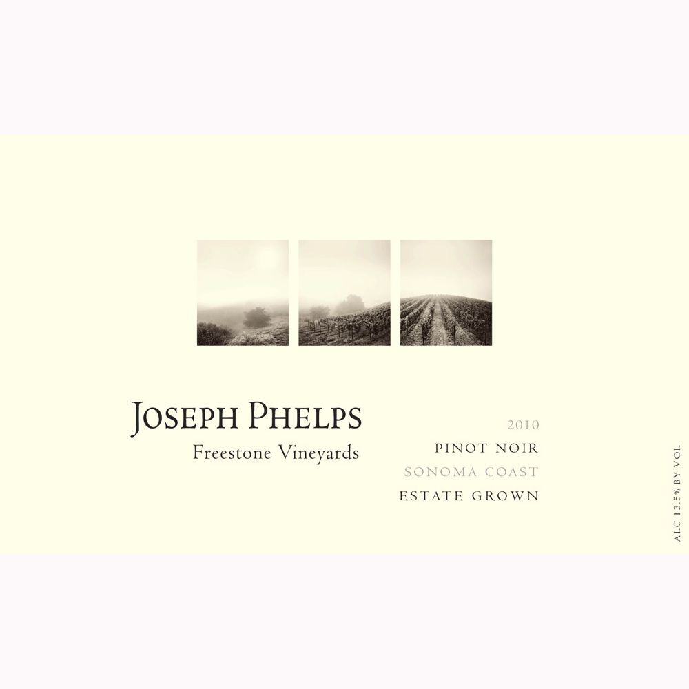 Joseph Phelps Freestone Vineyards Sonoma Coast Pinot Noir 2010 Front Label