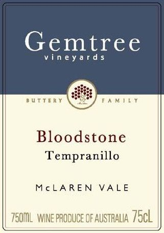 Gemtree Vineyards Bloodstone Tempranillo 2004 Front Label
