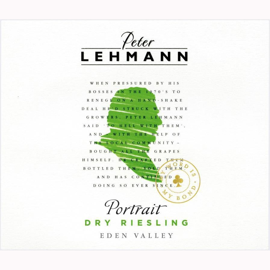 Peter Lehmann Portrait Eden Valley Riesling 2012 Front Label