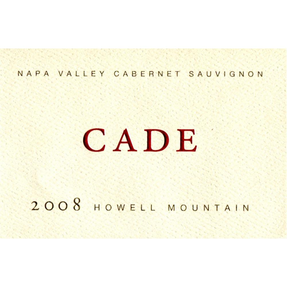CADE Howell Mountain Cabernet Sauvignon (375ML) 2008 Front Label
