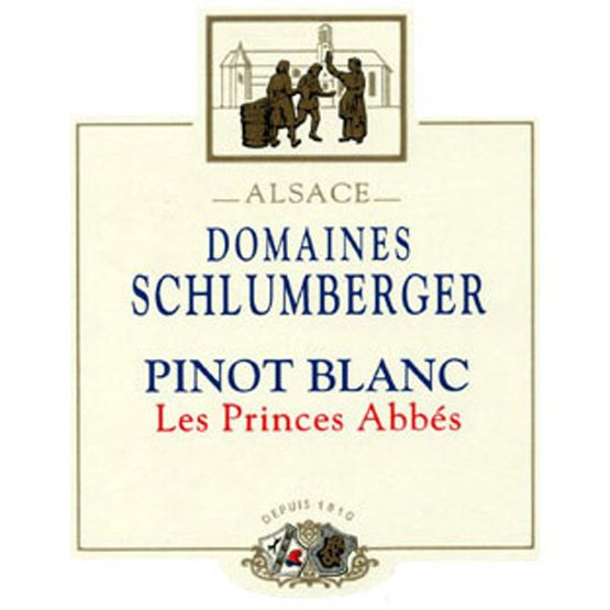 Domaines Schlumberger Les Princes Abbes Pinot Blanc 2011 Front Label