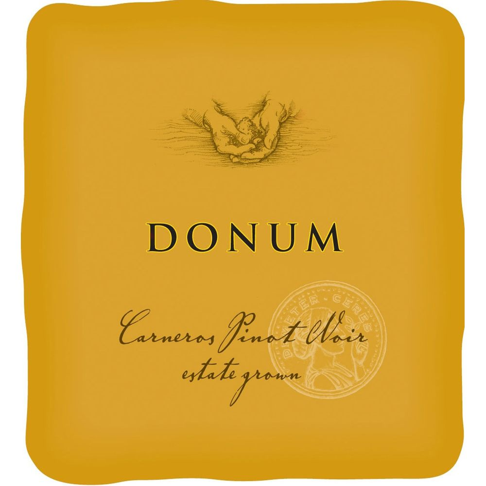 The Donum Estate Carneros Estate Grown Pinot Noir 2008 Front Label