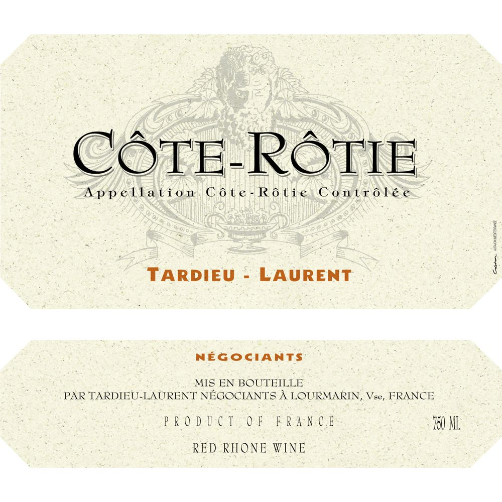 Tardieu-Laurent Cote Rotie 2010 Front Label
