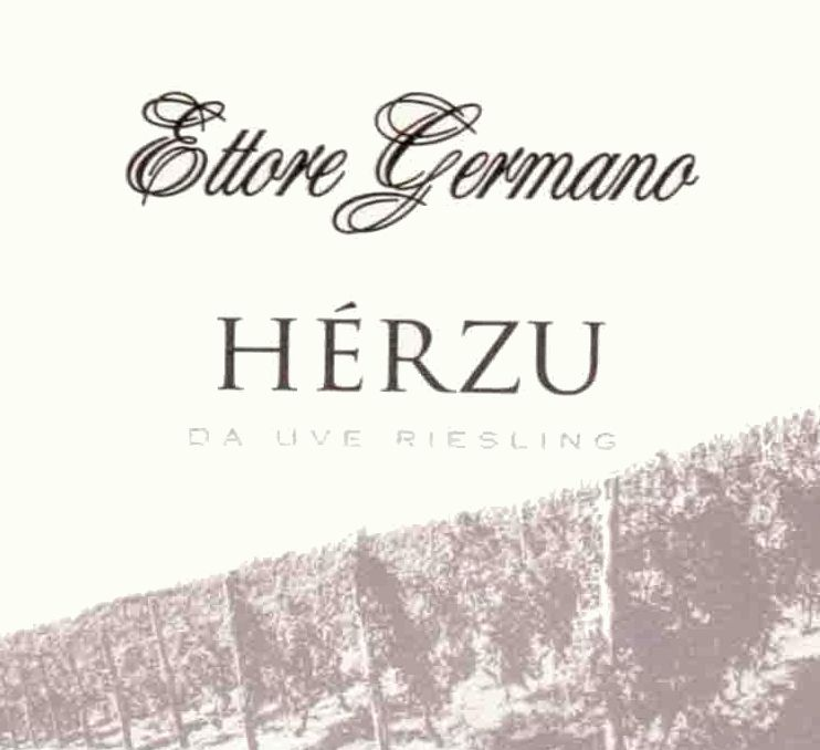 Ettore Germano Herzu Riesling 2010 Front Label