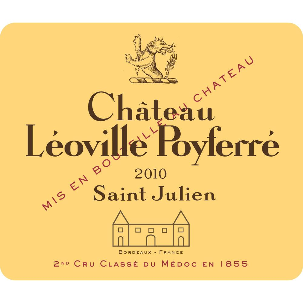 Chateau Leoville Poyferre  2010 Front Label
