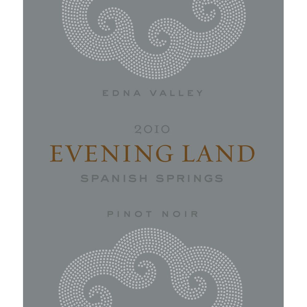Evening Land Spanish Springs Pinot Noir 2010 Front Label