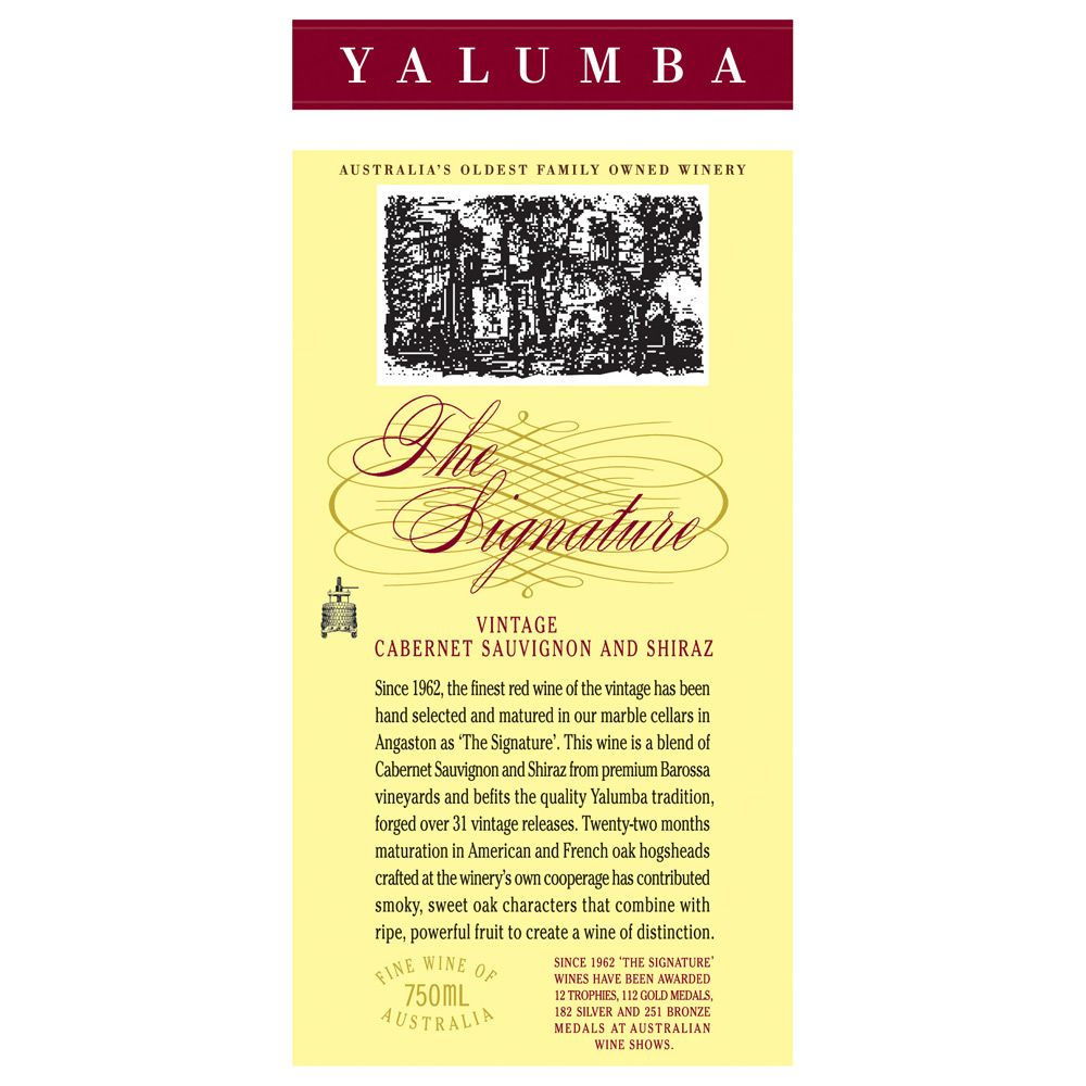 Yalumba The Signature Cabernet/Shiraz 2008 Front Label