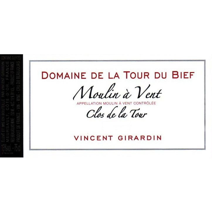 Vincent Girardin Moulin-a-Vent Domaine de la Tour du Bief 2010 Front Label