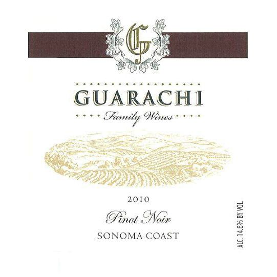 Guarachi Pinot Noir Sonoma Coast 2010 Front Label