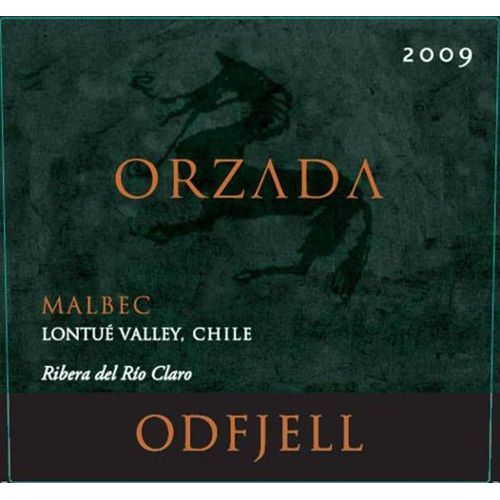 Odfjell Orzada Malbec 2009 Front Label