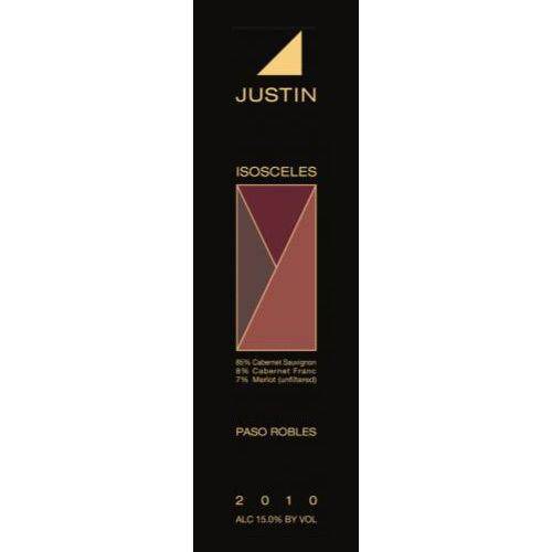 Justin Isosceles 2010 Front Label