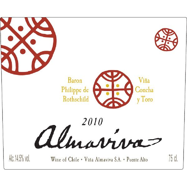 Almaviva Red 2010 Front Label