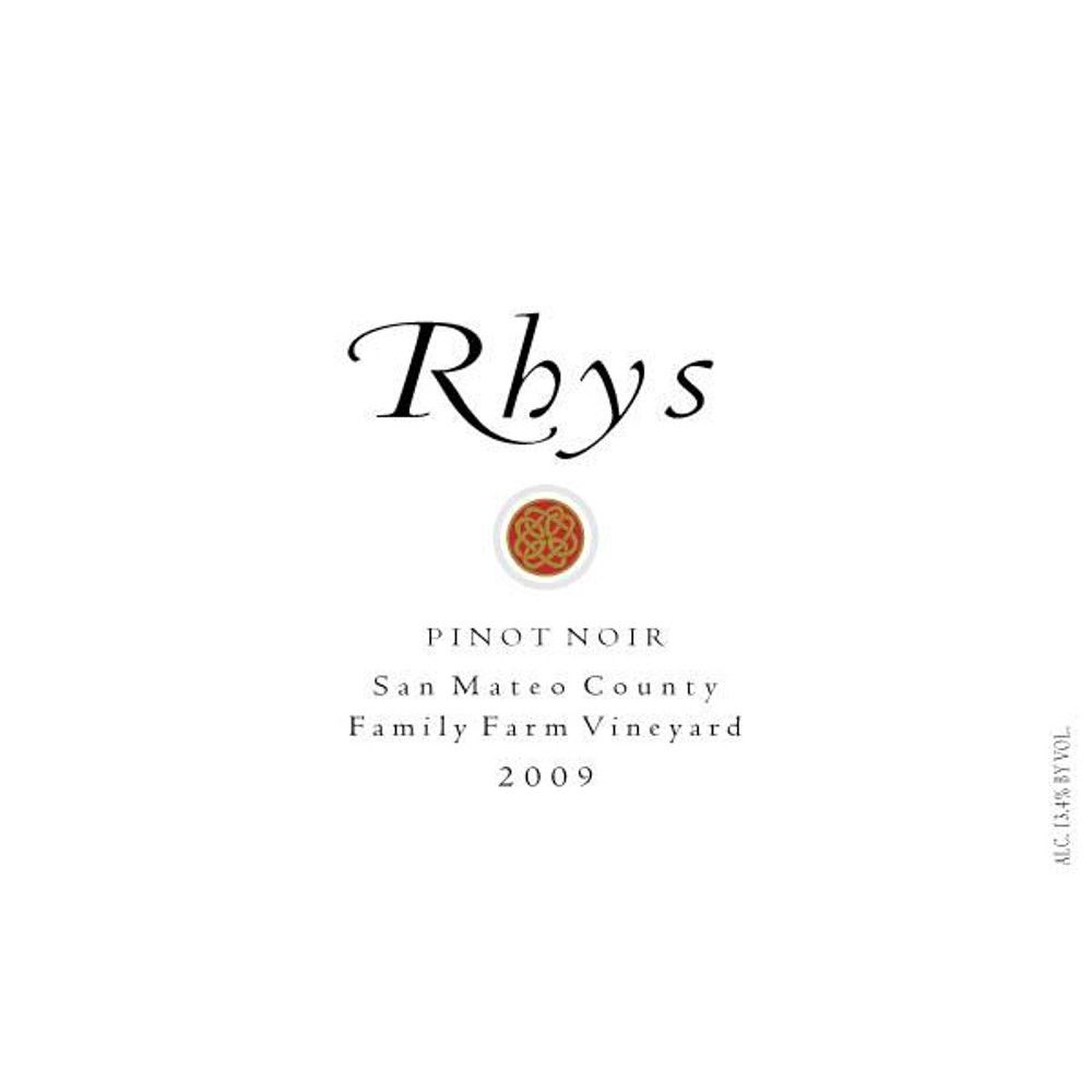 Rhys Vineyards Family Farm Vineyard Pinot Noir 2009 Front Label