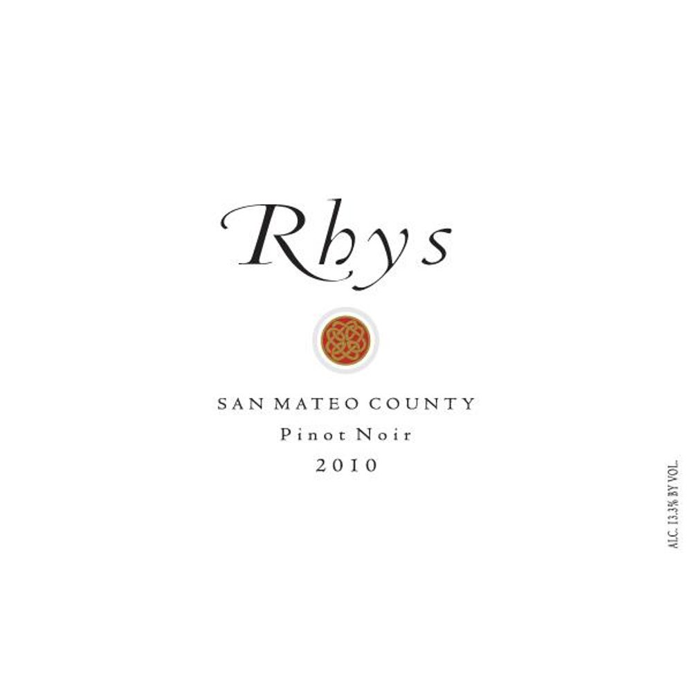 Rhys Vineyards San Mateo County Pinot Noir 2010 Front Label