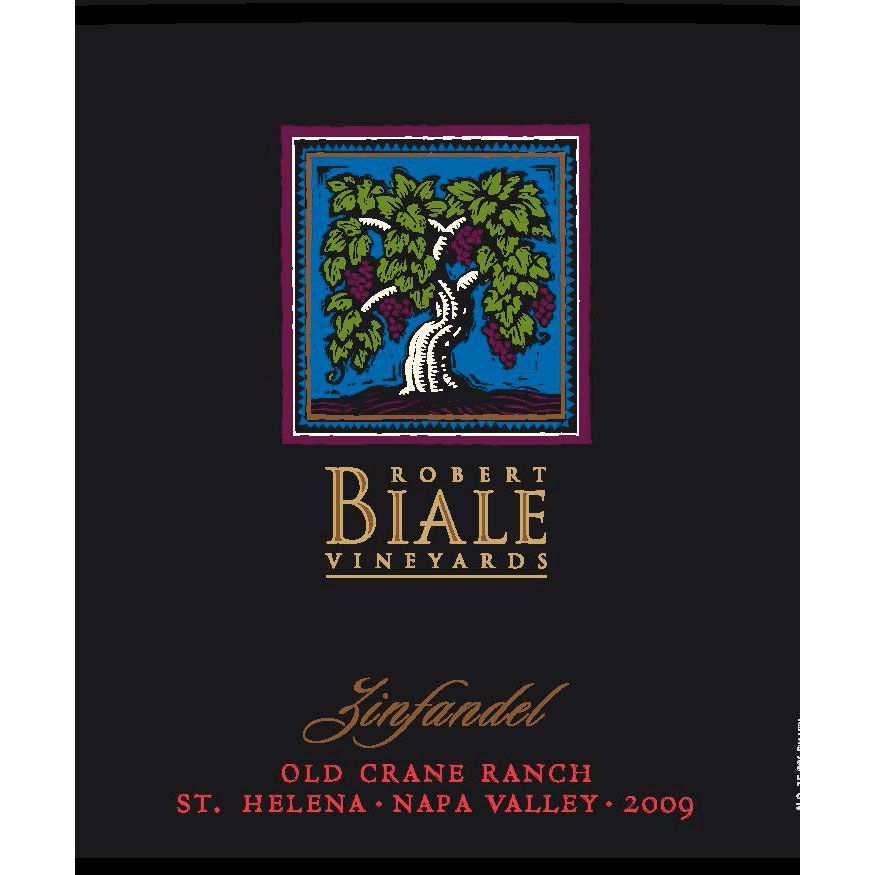 Robert Biale Vineyards Old Crane Ranch Zinfandel 2009 Front Label