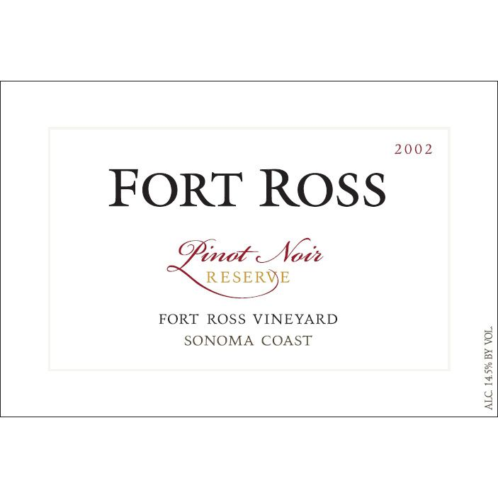 Fort Ross Vineyard Reserve Pinot Noir 2002 Front Label