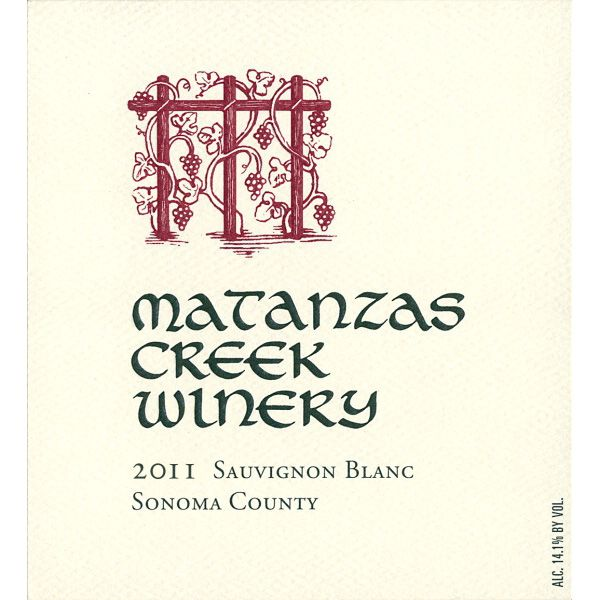 Matanzas Creek Sonoma County Sauvignon Blanc (375ML half-bottle) 2011 Front Label