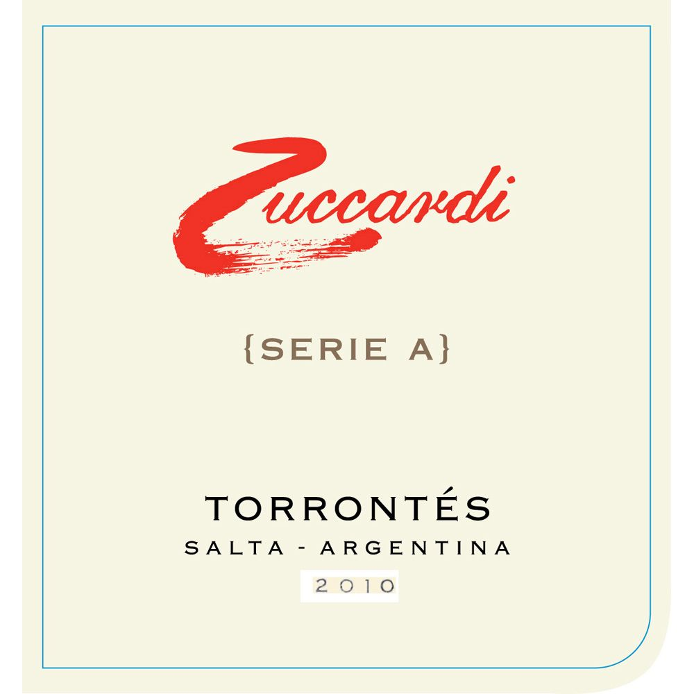 Zuccardi Serie A Torrontes 2011 Front Label