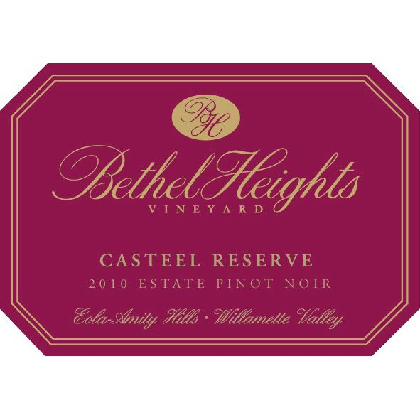 Bethel Heights Casteel Reserve Pinot Noir 2010 Front Label