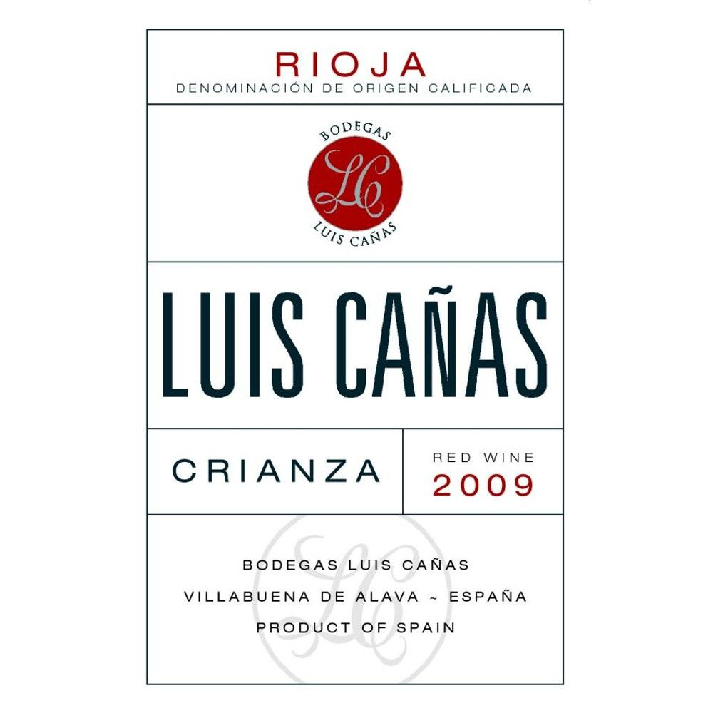 Bodegas Luis Canas Crianza 2009 Front Label