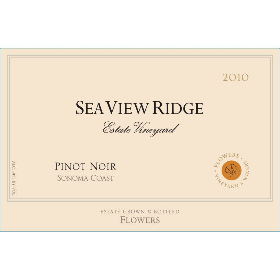 Flowers Sea View Ridge Pinot Noir 2010 Front Label