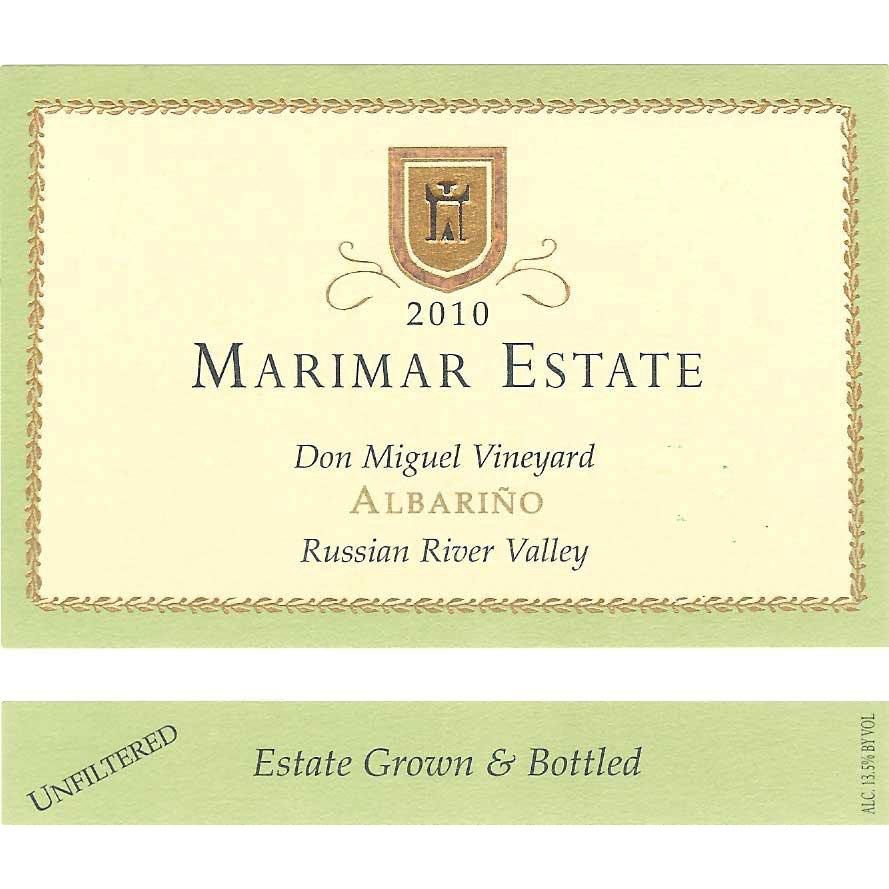 Marimar Estate Don Miguel Vinyard Albarino 2010 Front Label
